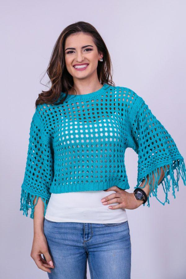 Дамски пуловер с ефектен широк ръкав - CHOICE®